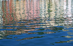 Water reflections background royalty free stock photography