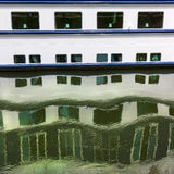 Water reflections pattern. Royalty Free Stock Photo