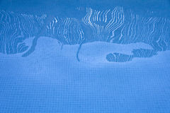 Water reflections in the pool. Reflections in the pool water Royalty Free Stock Photo
