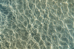Water reflections. Water surface with sparkling light reflections Stock Photos
