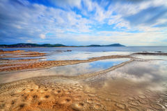 Water reflections at Terrigal Haven, NSW Australia. Terrigal Haven, looking towards Terrigal and Wamberal, NSW Australia. Water reflections and the beginnings of royalty free stock images