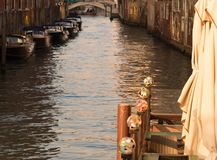 Water reflexions on Venice canal royalty free stock photos