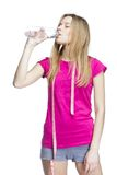Water refreshing after training Stock Photography