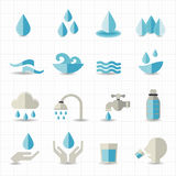 Water related icons. This image is a vector illustration Stock Photos