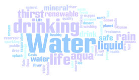 Water related words word cloud Stock Photo