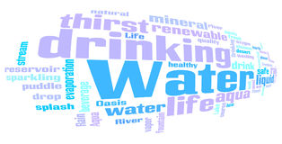 Water related words word cloud royalty free illustration