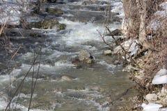 Water reproductie-Meltoff van Ijs & Sneeuw Stock Foto's