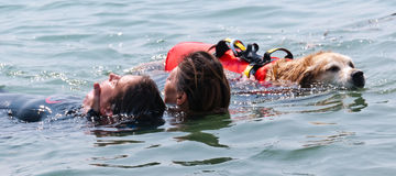 Water rescue drill #2 Royalty Free Stock Image