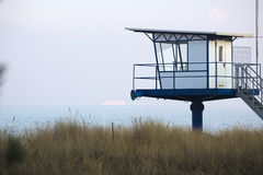 Water rescue outlook on a beach in Germany Stock Photos
