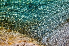 Water Resembling Cracked Glass Background Stock Image