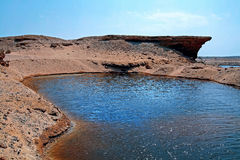 A water reserve in the desert of Egypt Stock Photos