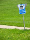 Water reserve sign germany Royalty Free Stock Photography