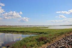 Water reserviour, Chornobyl-streek Royalty-vrije Stock Foto