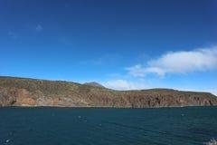 Water Reservoir in Argentina. Beautifull Andean scenery at Agua del Toro Reservoir, Mendoza, Argentina Stock Image