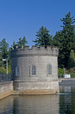 Water reservoir building Royalty Free Stock Images