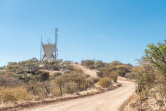 Water reservoir in the centre of Windhoek. A water reservoir in the centre of Windhoek, the capital city of Namibia stock image