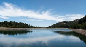 Water reservoir dam Stock Images