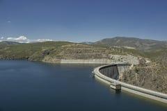 Water reservoir of El Atazar Stock Photos