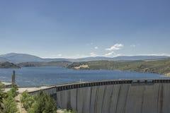 Water reservoir of El Atazar Stock Photo