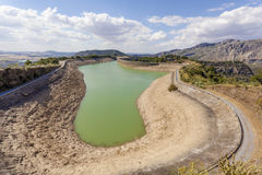 Water reservoir of El Chorro, Alora, Spain Stock Image