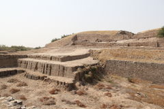 Water reservoir of Harappan civilization site Royalty Free Stock Images