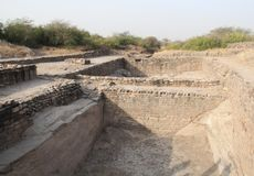 Water reservoir of Harappan civilization site Royalty Free Stock Photography