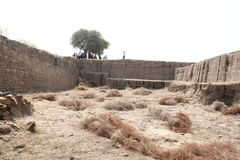 Water reservoir of Harappan civilization site Royalty Free Stock Image