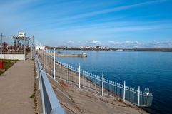Water reservoir of Irkutsk Royalty Free Stock Image