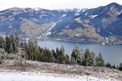 Water Reservoir Lake, Schmittenhöhe, Zell Am See, Austria Stock Images