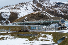 Water reservoir near the way to Jungfrau Stock Image