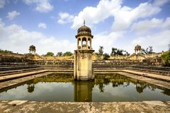 Water reservoir, Rajasthan, India royalty free stock photo