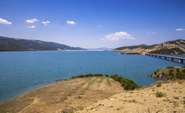 Water Reservoire lake Landscaoe District Gramsh  Albanien Royalty Free Stock Photos