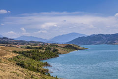 Water Reservoire lake Landscaoe District Gramsh  Albanien Stock Photography