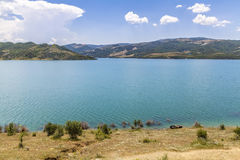 Water Reservoire lake Landscaoe District Gramsh  Albanien Stock Photo