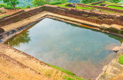 Water reservoirs in Sigiriya Stock Photo