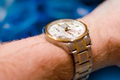 Water resistant swiss watch Stock Photography