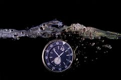 Water resistant watch. In water Stock Images