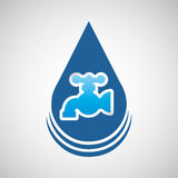 Water resource icon design. Illustration eps10 graphic Royalty Free Stock Images