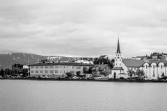 By the water in Reykjavik. Reykjavik is the capital city of Iceland Royalty Free Stock Photos