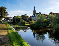 The water-rich village of Marken in the morning Royalty Free Stock Photo