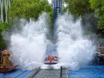 Water ride splash action Royalty Free Stock Image