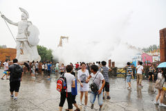Water rides are popular in Happy Valley Beijing Stock Image