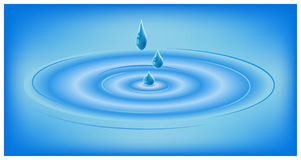 Water riplle vector illustration. Waves on water Stock Photography
