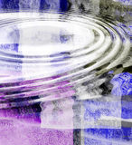 Water Ripple Abstract. Water ripples over blue and purple abstract art Stock Photo