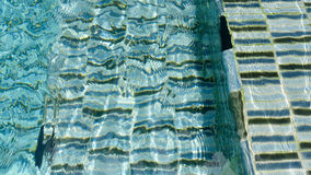 Water ripple pattern in pool Royalty Free Stock Photo