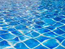 Water ripple wave in swimming Pool Royalty Free Stock Photography