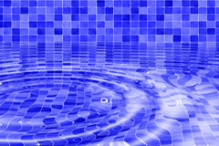 Water ripples. Blue / purple mosaic tiled background with water ripples Stock Photography