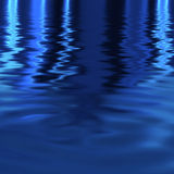 Water ripples. A blue water background illustration with reflections and ripples Stock Photography