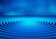 Water Ripples. Digital data and network circles shape Stock Photo