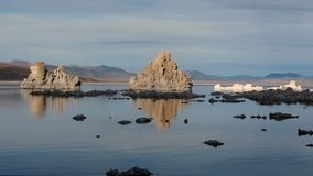 Fast Motion Rendering of Mono Lake California at Dusk stock video footage